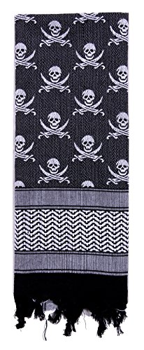 Rothco Skulls Shemagh Tactical Desert Scarf ()