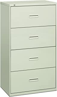 product image for HON Filing Cabinet - 400 Series Four-Drawer Lateral File Cabinet, 30w x 19-1/4d x 53-1/4h, Light Gray (434LQ)
