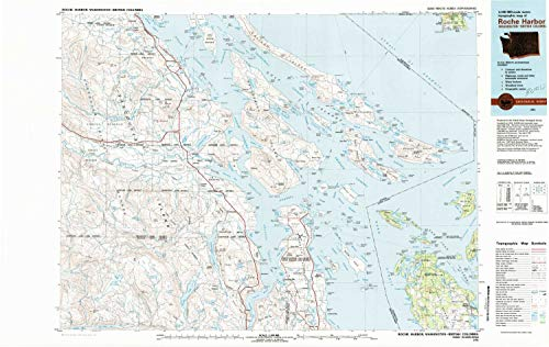 (YellowMaps Roche Harbor WA topo map, 1:100000 Scale, 30 X 60 Minute, Historical, 1981, Updated 1981, 24.1 x 38.2 in - Polypropylene)