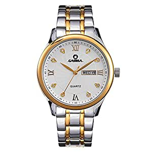 Casima mens watches big dial auto date sliver stainless steel strap watch 5117 gs8 for Casima watches