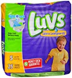 Health & Personal Care : Luvs Ultra Leakguards Diapers Size 5 - 4 packs of 25, Pack of 2