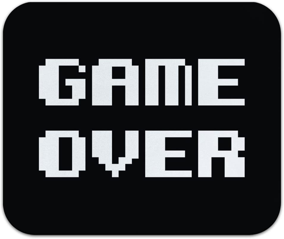 Game Over Gamer Pixel Font Geek Mouse Pad Mousepad Amazon Ca Cell Phones Accessories