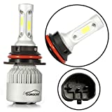R2 COB 9007 HB5 8000LM LED Headlight Conversion Kit, Hi/Lo beam headlamp, Dual Beam Head Light, HID or Halogen Head light Replacement, 6500K Xenon White, 1 Pair- 1 Year Warranty