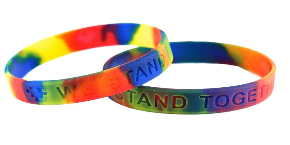 Autism Awareness Silicone Bracelets 25 Pack ''We Stand Together''