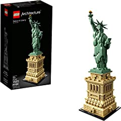 Celebrate a monumental blend of architecture and sculpture with this LEGO Architecture 21042 The Statue of Liberty set. America's iconic symbol of freedom stands more than 305 feet above Liberty Island in New York harbor, welcoming seafarers ...