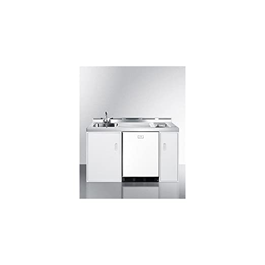 All In One Kitchen Appliance.Summit C60elglass Kitchen All In One Combination Unit White