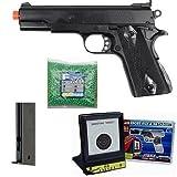 hfc heavy m1911 spring airsoft pistol ex magazine bb target 2500 bb's combo kit(Airsoft Gun)