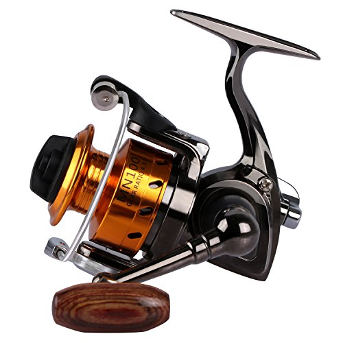 Goture Small Spinning Fishing Reel Collapsible Handle and Metal Shaped Body for Freshwater and All Season Fishing