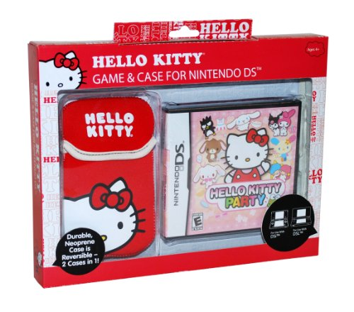 Hello Kitty Party NDS Game and Sakar NDS Case Bundle