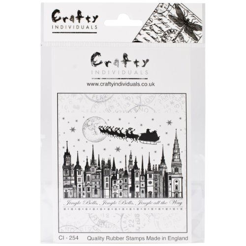 Crafty Individuals CI-254 Unmounted Rubber Stamp, Jingle ...