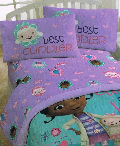 Disney Doc Mcstuffins Cuddles Care MF Sheet, Twin