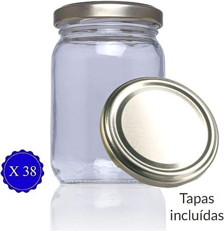 ➡️ TARROS DE VIDRIO PARA CONSERVAS: Los frascos de cristal con tapa incluida Stda de 209 Ml son idea