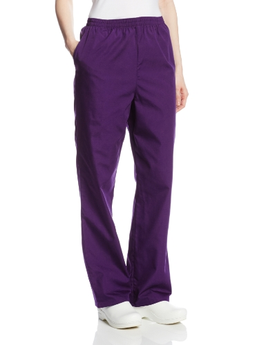 Cherokee Women's Workwear Scrubs Pull-On Pant, Eggplant, Large