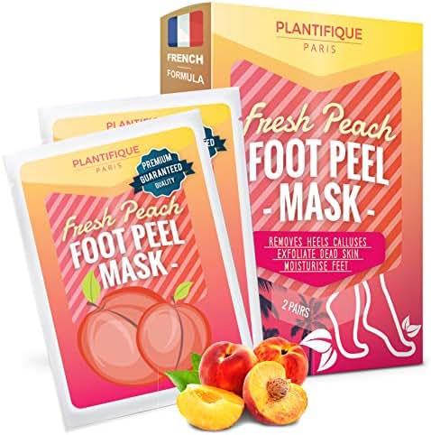 Soft Foot Exfoliating Peeling Scrub Mask -Baby Foot Peel -Removes Calluses,Dead and Dry Skin - Repairs Rough Heels in 7 Days - Peel Mask for Men and Women(Peach) - Baby Foot Baby Feet Foot Peel 2 Pack