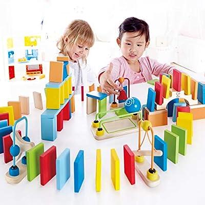 Award Winning Hape Dynamo Kid's Wooden Domino Set: Toys & Games