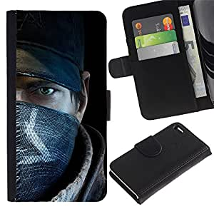 Ihec-Tech / Flip PU Cuero Cover Case para Apple Iphone 4 / 4S - Rebel Man