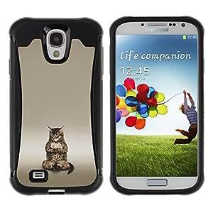 Suave TPU GEL Carcasa Funda Silicona Blando Estuche Caso de protección (para) Samsung Galaxy S4 IV I9500 / CECELL Phone case / / Cute Buddha Cat Meditating /