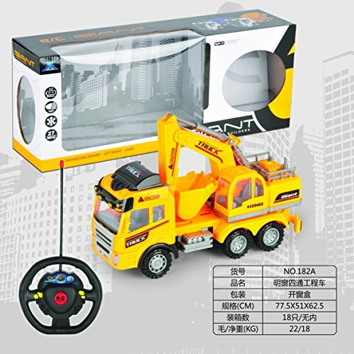 Big-Daddy Super Cool Series Remote control Construction Truck With Friction Lever Functional Tractor on Flat Bad by Big Daddy