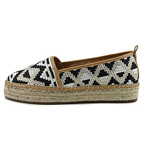 Espadrille Concepts Black Toe Round Flats INC Womens Caleyy2 Gold International FY7RxqS