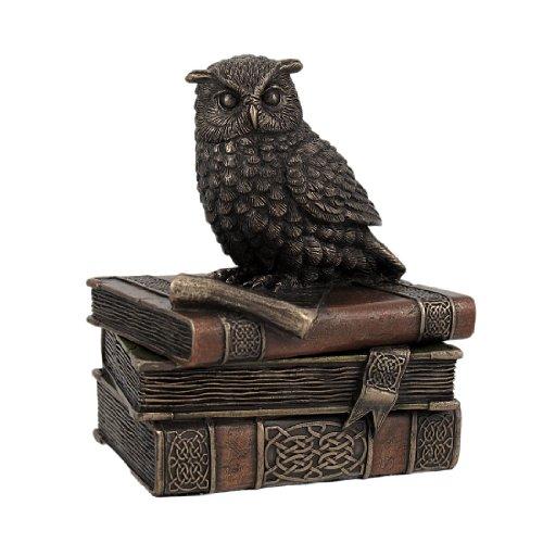 Bronzed Finish Wise Old Owl Trinket Box (Wise Old Owl)