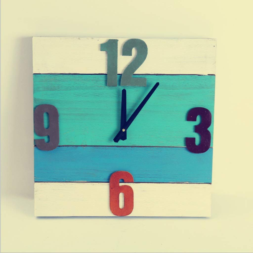 壁時計木製装飾テーブルリビングクリエイティブクロックシンプルなファッション時計 JSFQ B07TYW15KT