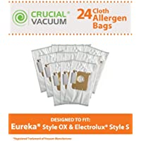 24 Replacements for Electrolux & Eureka S & OX Cloth Bags Fit Harmony Oxygen Vacuums, Compatible With Part # 61230, 61230a, 61230b & 61230c, by Think Crucial