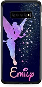 Kaidan Tinker Bell Samsung Galaxy S9 S8 Plus Case Custom Name S10 + S10e S10 Lite Fairy Tale Note 8 9 iPhone Personalized 11 Pro Max Peter Pan 8 7 Plus 5 5S SE X XR XS 6 6S Google Pixel 3 XL 2 appd52