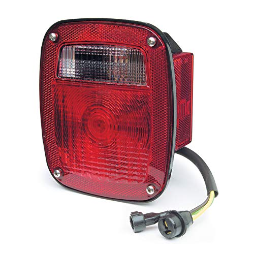Grote STT LAMP,RED,3STUD CHEV/Ford/Jeep REPL.W/Side MKR &Molded Pigtail,RH (52802)