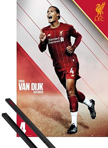 - Liverpool LFC Virgil Van Dijk 2019-2020 1art1 Football Poster et Cadre MDF 91 x 61cm