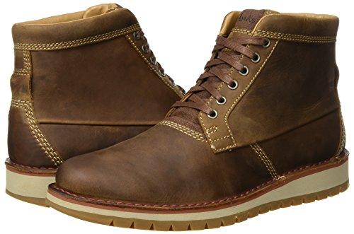 Clarks Leather Para Clásicos tan Hombre Top Marrón Cargadores Varby 8wqrx1g8