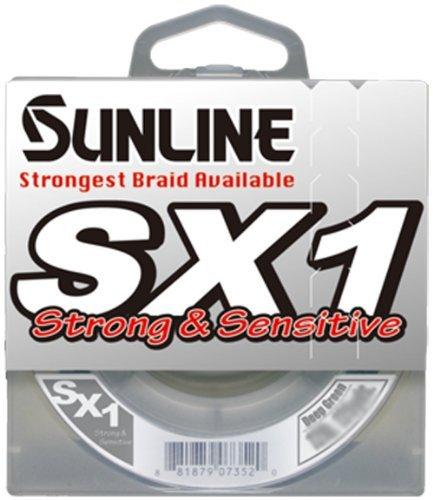 Sunline SX1 Braided Fishing Line (Dark Green, 10-Pound Test/125-Yard) by Sunline