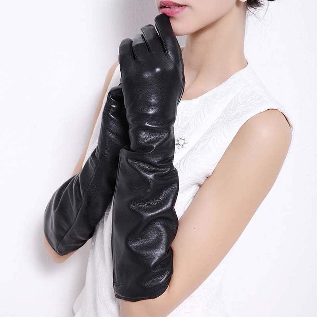 Las mujeres de cuero Guantes de Halloween guantes de cuero guantes de codo guantes de vestir calentador del brazo de 3/4 mangas de la chaqueta accesorio del partido de tarde