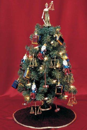 Lawyer Christmas Tree - Pre-Lit Tree with Ornaments for Lawyers, Judges, and - Lawyer Christmas Ornaments DailyFoo
