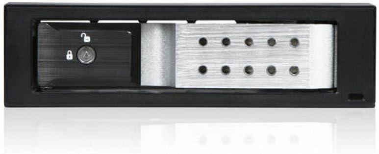 Silver iStarUSA BPN-DE110SS-SILVER 1x5.25 to 1x3.5 SAS//SATA 6.0 Gb//s Trayless Hot-Swap Cage