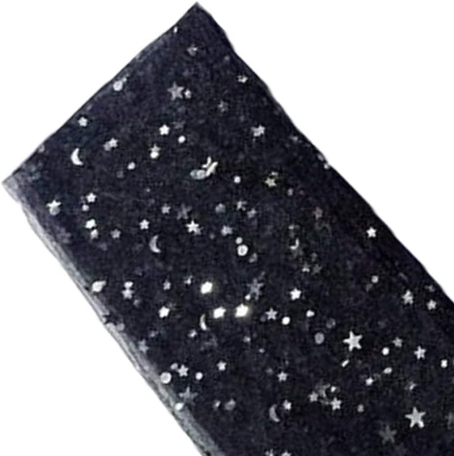 Rekkles Donne Ragazze Acrilico Glitter Stars Calze velate Chic Calzini Maglia Trasparente Puro Sottile alla Caviglia Garza Calze