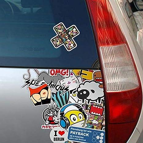KIWISTAR Pentagramm in 7 Gr/ö/ßen erh/ältlich Aufkleber mehrfarbig Sticker Funsticker colored