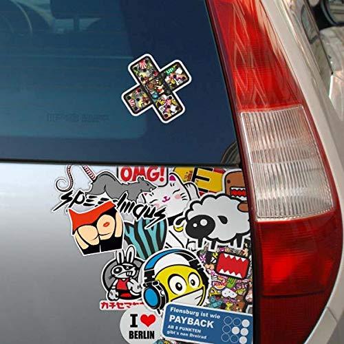 KIWISTAR Triskele in 7 Gr/ö/ßen erh/ältlich Aufkleber mehrfarbig Sticker Funsticker colored