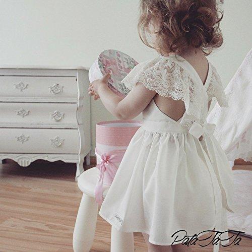 ce51b34ae5c7 Amazon.com: Baby girl dress LACE, ivory bohemian boho dress, baby girl  wedding dress, christening outfit, baptism dress, bohemian flower girl dress:  ...