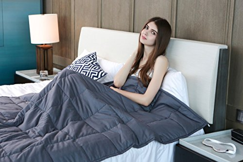 Weighted Blanket by YnM for Adults, Fall Asleep Faster and Sleep Better, Great for Anxiety, ADHD, Autism, OCD, and Sensory Processing Disorder(48''x72'')(15 lbs for 140 lbs individual) by YnM (Image #4)