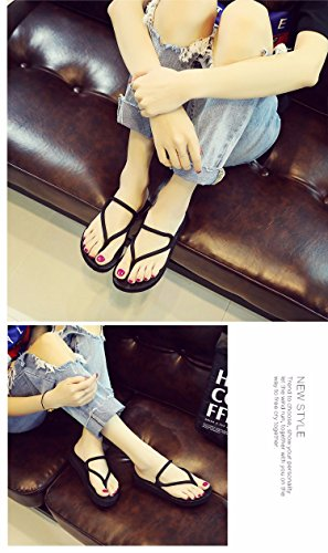 slipper bottom Black slippery of is the The XIAOGEGE heel the 6q518qw