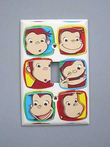 Curious George Monkey Single Switch Plate switchplate
