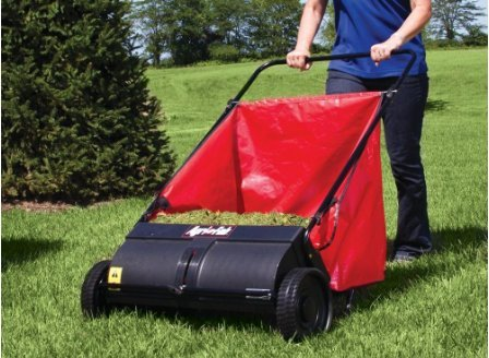 Push Model Lawn Sweeper By Agrifab- Makes Picking Up Leaves and Small Branches Twice as Fast As Raking- This Pro Model Makes Yardcare A Breeze With This Lightweight Foldable Sweeper- 3 Year Warranty