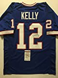 Autographed/Signed Jim Kelly Buffalo Bills Blue Football Jersey JSA COA