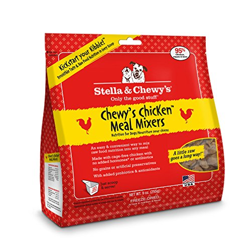 Stella & Chewy's Freeze-Dried Raw Chewy's Chicken Meal Mixers Grain-Free Dog Food Topper, 9 oz bag