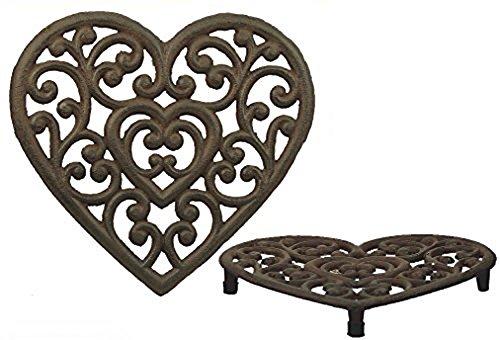 Heart Trivet - Cast Iron Heart Shaped Trivet