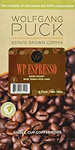 Wolfgang Puck Coffee Espresso, 18-Count, 180 g (Pack of 3)