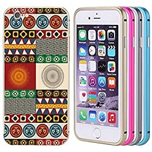 Lacdo Colorful Back Cover Aluminium Metal Bumper Frame Case Full Armor Protect for iPhone 6(Assorted Color) , Gray