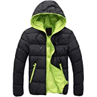 Innersetting Simple Men Hooded Jacket Coat Winter Padded Warm Down Casual Thick Outwear