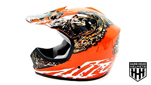 SmartDealsNow - HHH DOT Youth & Kids Helmet for Dirtbike ATV Motocross MX Offroad Motorcyle Street bike ORANGE CAMO (Small)