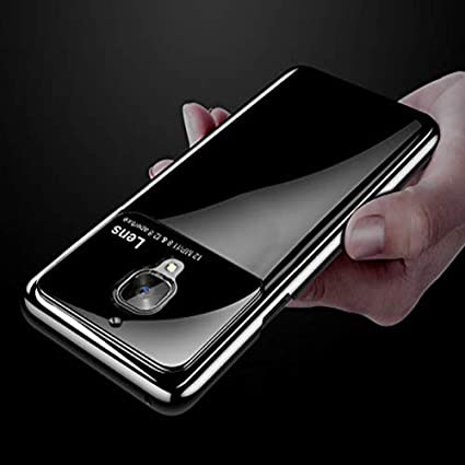 premium selection b7c67 4502f MOBLUS Glossy Ultra Thin Lens Case Cover for OnePlus 3 /3T Cover Skin PC  Frosted Shield with Acrylic Board Camera Protection for OnePlus 3 /3T  (Black)